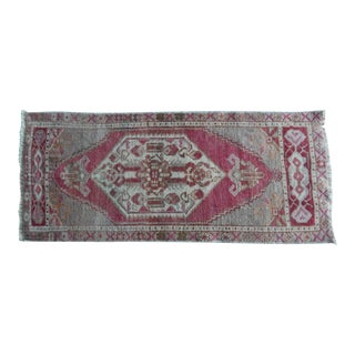 Distressed Small Turkish Rug Mat 1′6″ × 3′7″ For Sale