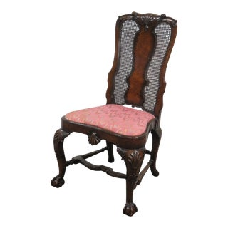 19th Century English Chippendale Carved Mahogany Side Chair