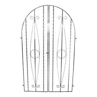Contemporary Modern Chrome Door Gate or Floor Sculpture For Sale