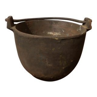 Antique Mini Cast Iron Caldron/Pot For Sale
