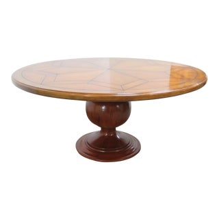 French Country Round Pedestal Dining Table For Sale