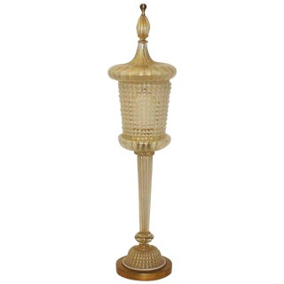 Monumental Marbro Murano Lantern Table Lamp