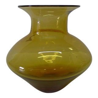 Mid-Century Blenko Amber Vase