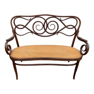 Bentwood Bench Setee in the Manner of Thonet For Sale