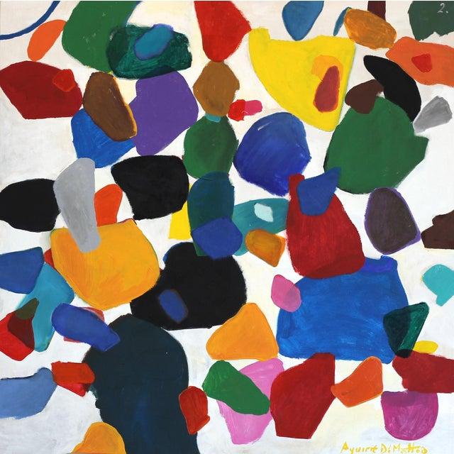 """Leonardo Aguirre """"2 Full Colors"""" Original Painting For Sale"""