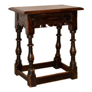 18th C English Joint Stool For Sale