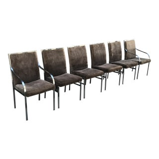 Pierre Cardin Chrome Dining Chairs - Set of 6 For Sale