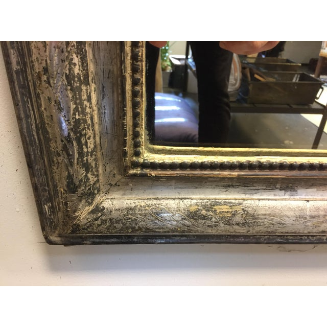 Late 19th Century Silver Leaf Louis Philippe Mirror For Sale - Image 4 of 7