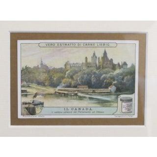 Early 1900s Framed Italian Collector Card, Canada