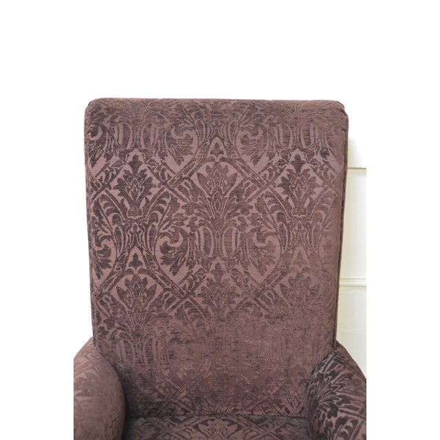 Drexel Pair of High Back Upholstered Host Arm Chairs (B) For Sale In Philadelphia - Image 6 of 11