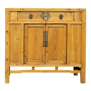Mid-Century Golden Sugi Cabinet