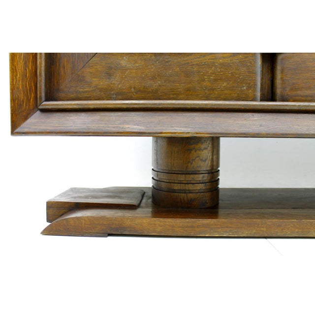 1940s Brutalist Credenza, Sideboard by Charles Dudouyt, France, Circa 1940s For Sale - Image 5 of 10
