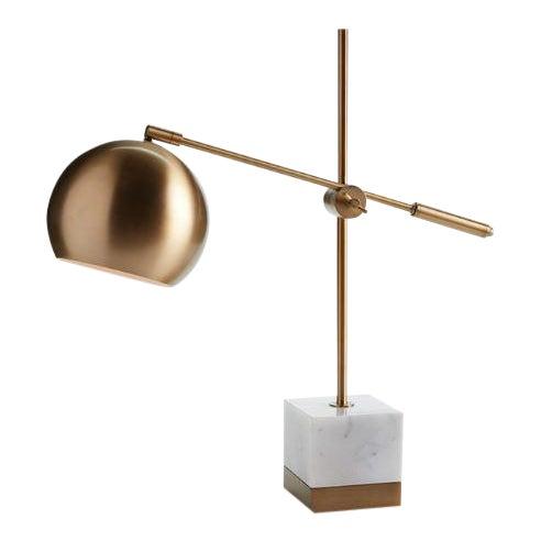 Graydon Marble & Brass Lamp For Sale