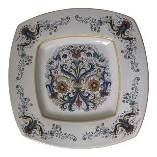 Vintage Italian Deruta Serving Platter For Sale