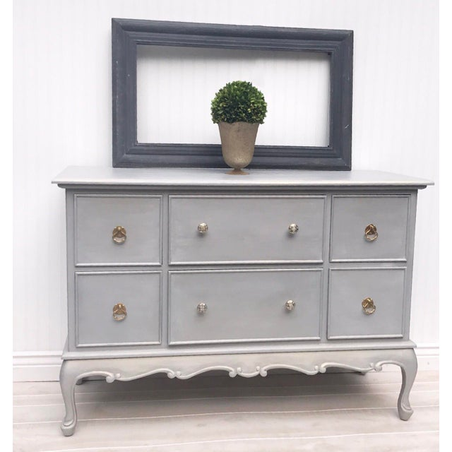 Gray Painted Contemporary Dresser - Image 4 of 5