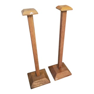 Edwardian Oak Hat Stands - a Pair For Sale