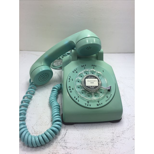 Turquoise 500 Rotary Dial Desk Phone - Image 7 of 11