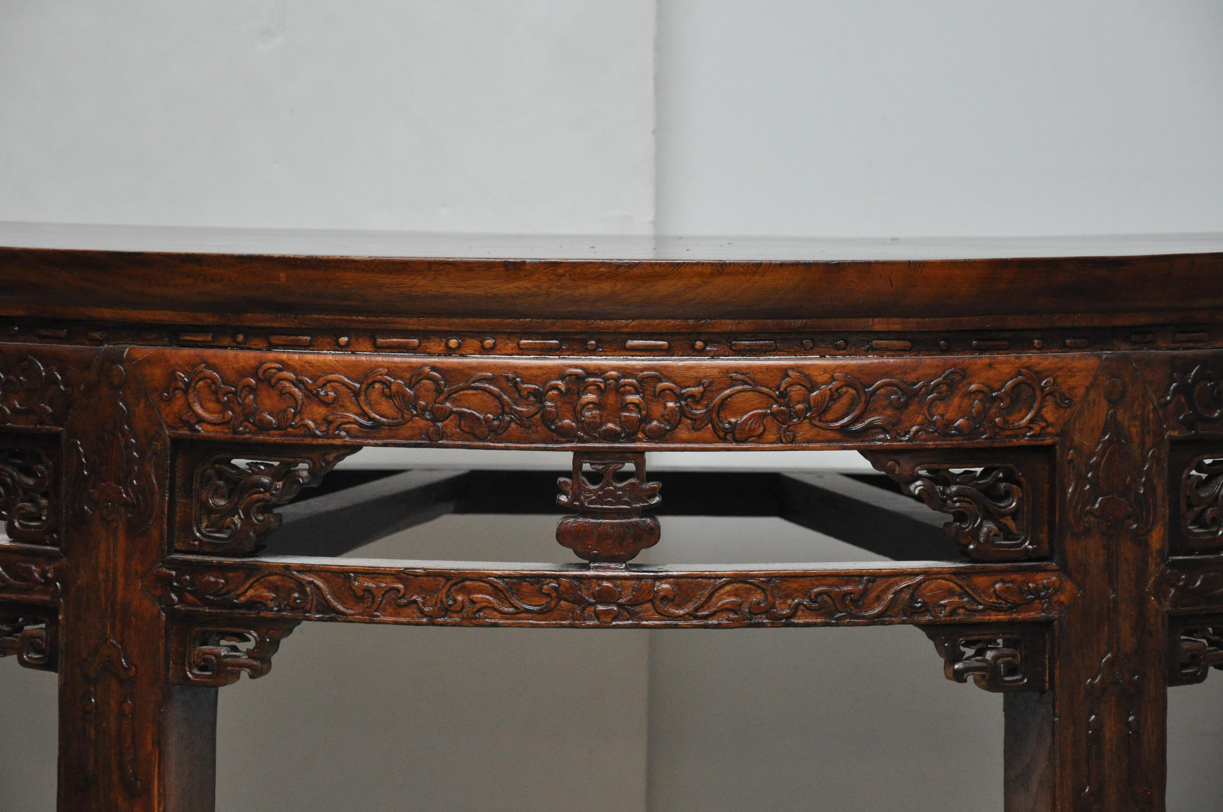 Chinese Antique Demi Lune Tables   A Pair   Image 7 Of 10