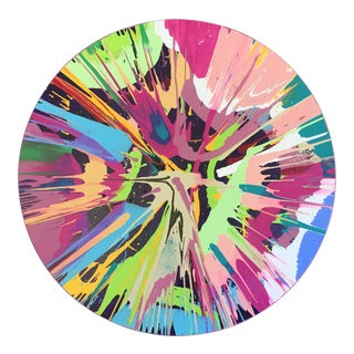 Color Field Circle Abstract Painting For Sale