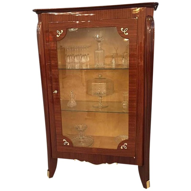 1930s French Art Deco Vitrine For Sale