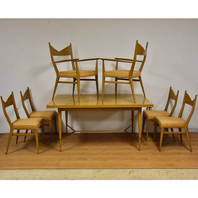 Dining Table and Chairs by Paul McCobb - Set of 7 For Sale - Image 13 of 13