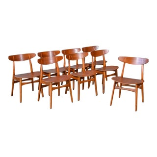 Mid 20th Century Hans Wegner Ch-30 Dining Chairs - Set of 8 For Sale