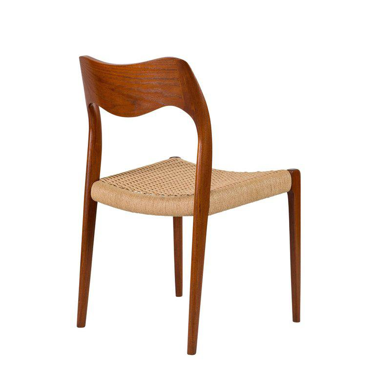 Set Of Eight Teak Niels Moller #71 Dining Chairs   Image 6 Of 10