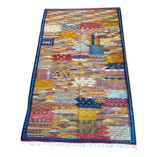 "Moroccan Wool Zanafi Tribal Area Rug- 6'7"" X 10'5ft. For Sale"