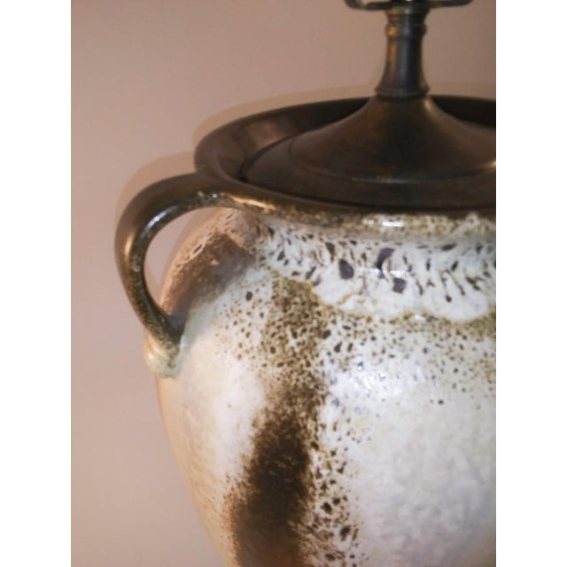 Metal Electrified Mid-Century Lava West German Vase For Sale - Image 7 of 8