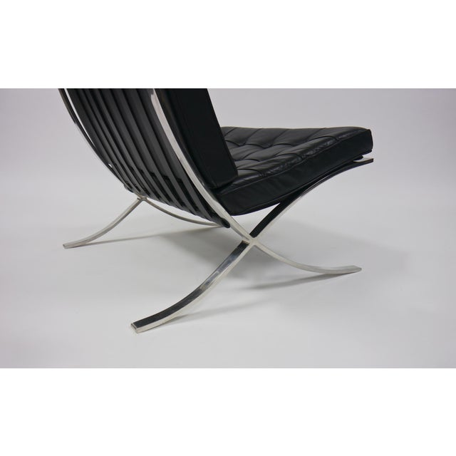 Exceptional Pair of Barcelona Chairs by Mies Van Der Rohe for Knoll For Sale - Image 5 of 10
