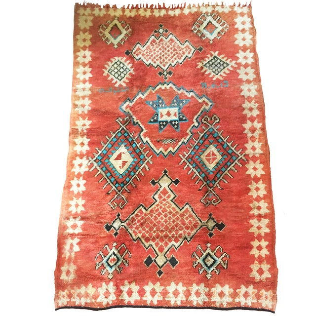 Vintage Vibrant-Color Moroccan Rug - 4′6″ × 8′8″ - Image 1 of 4