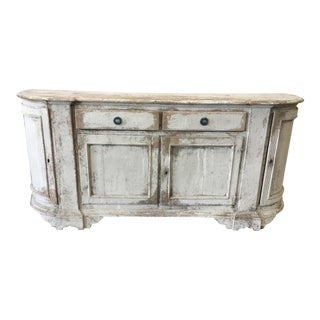 18th Century Antique Painted Italian Tuscan Sideboard Credenza