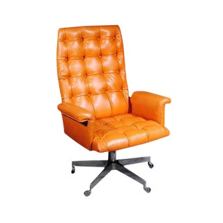 1960's Vintage Swiss De Sede DS 35 Executive Swivel Armchair