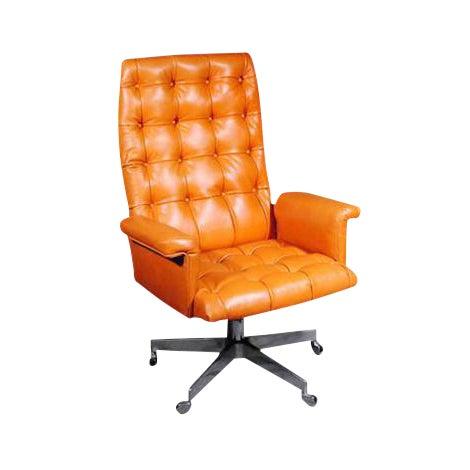 1960's Vintage Swiss De Sede DS 35 Executive Swivel Armchair - Image 1 of 4