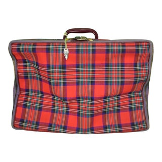 Royal Stewart Canvas Suitcase For Sale