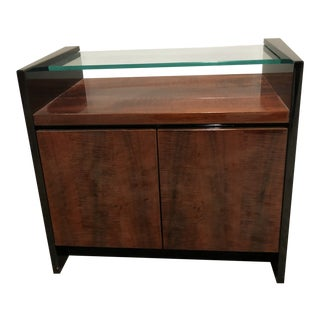 1980s Modern Henredon Koa Wood Side Table For Sale