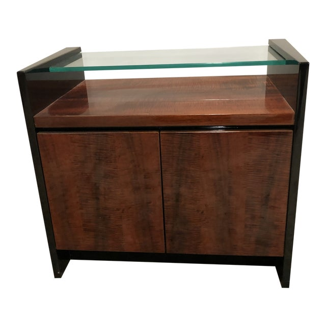 1980s Modern Henredon Koa Wood Side Table For Sale