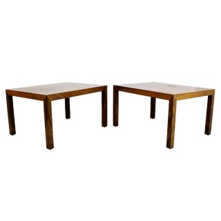1960s Danish Mid Century Modern Parsons Rosewood Side End Tables - a Pair For Sale