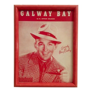 Bing Crosby Galloway Bay Framed Poster