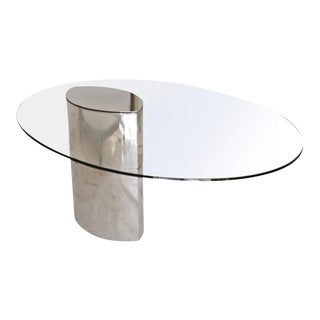 "Cini Boeri for Knoll ""Lunario"" Dining Table For Sale"