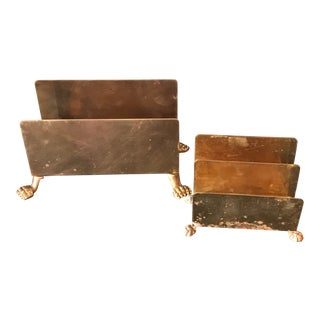 Vintage Brass Letter Holders - A Pair