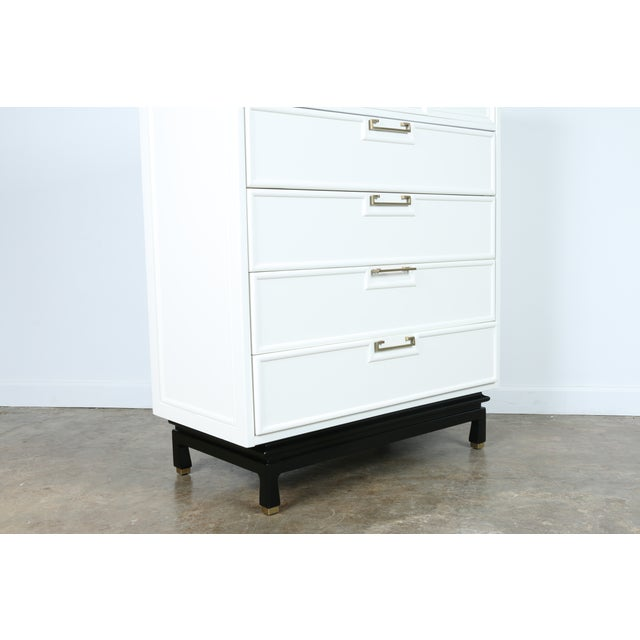 American of Martinsville Lacquered Highboy Dresser - Image 10 of 11
