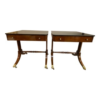 Pair of 19th Century Single Drawer American Side Tables For Sale