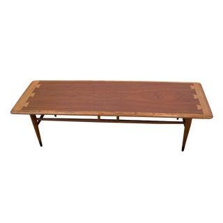 1950s Mid-Century Modern Lane Furniture Oak Rectangular Coffee Table