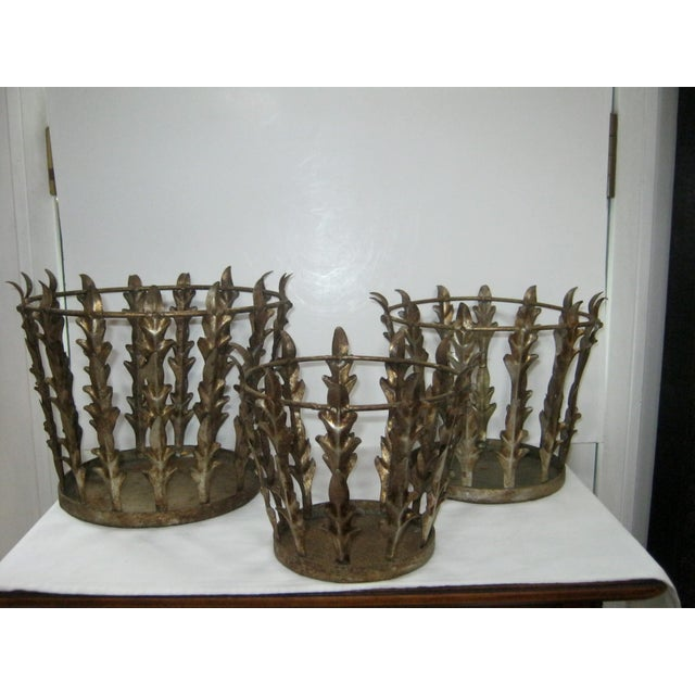 Vintage Italian Nest of 3 Acanthus Leaf Baskets - Set of 3 - Image 2 of 8