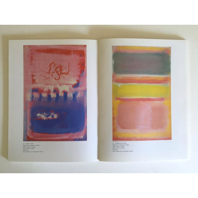 """Mark Rothko """" Mark Rothko : Works on Paper """" Vintage 1984 1st Edtn Abstract Expressionist Lithograph Print Exhibition Art Book For Sale - Image 4 of 13"""