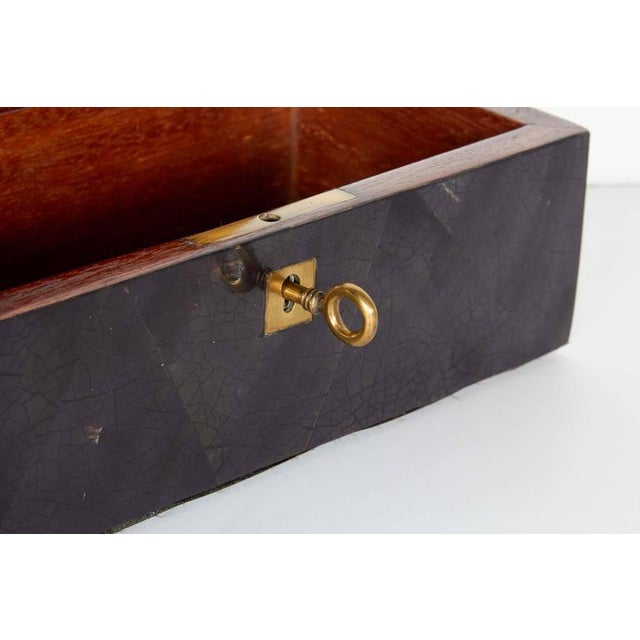 Bronze Organic Modern Decorative Box in Lacquered Pen Shell and Exotic Red Feathers For Sale - Image 7 of 9