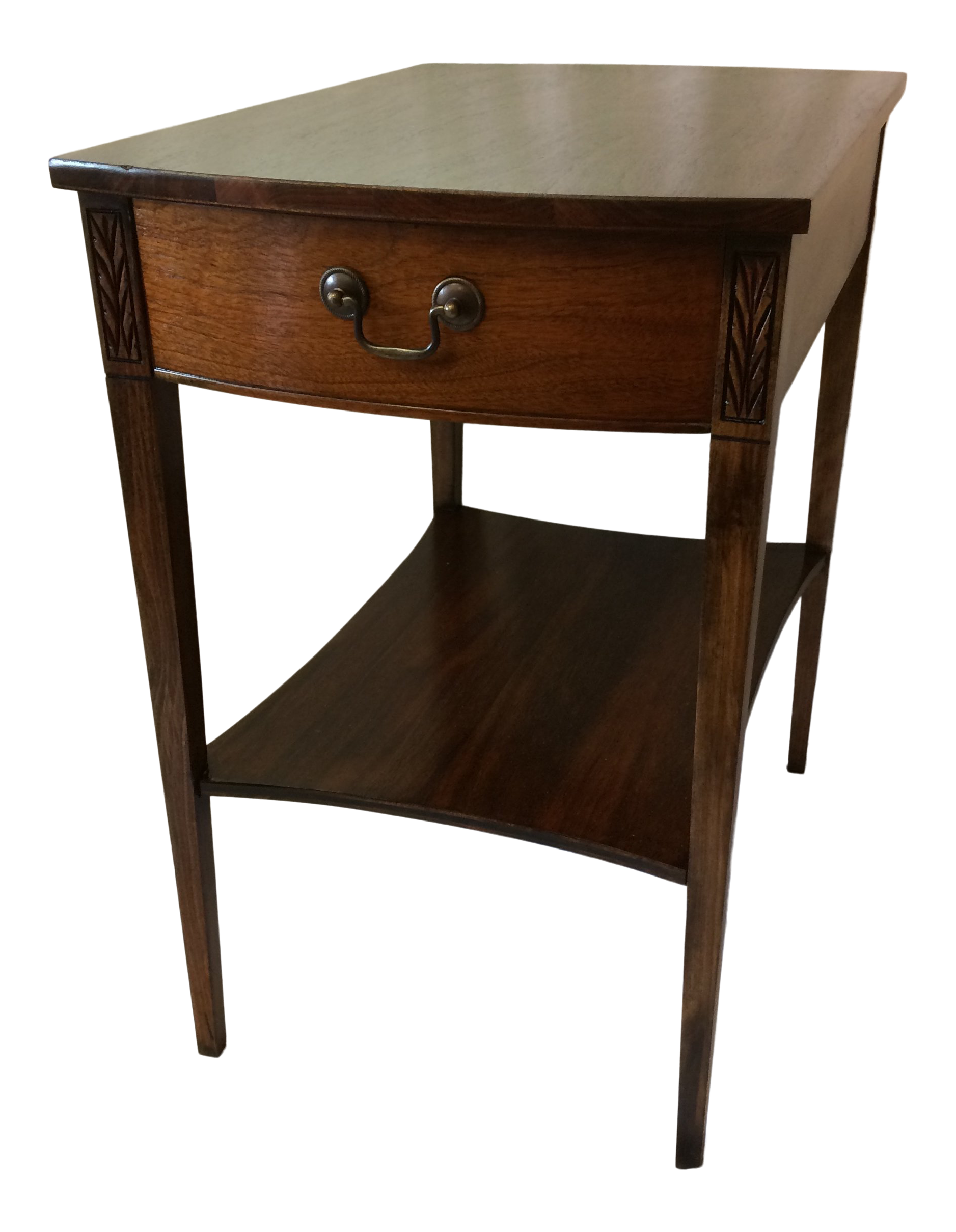 Image of: Mersman Mid Century Modern Walnut Side Table With Drawer Chairish