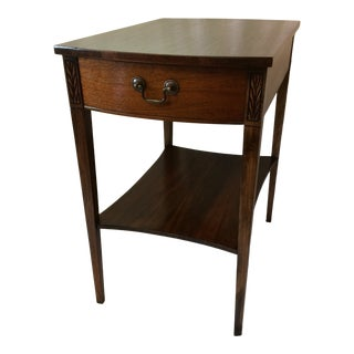 Mersman Mid-Century Modern Walnut Side Table With Drawer For Sale