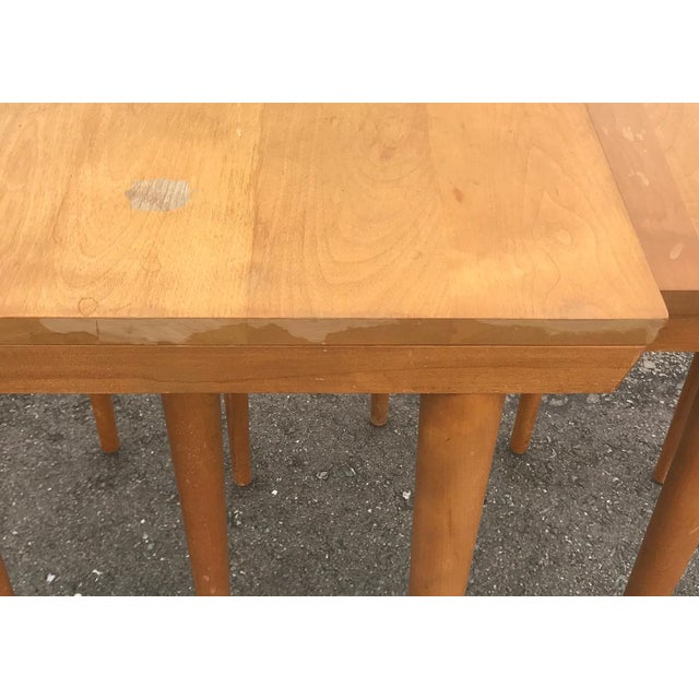 Birch MCM Russell Wright for Conant Ball Nesting Tables - Set of 3 For Sale - Image 7 of 13